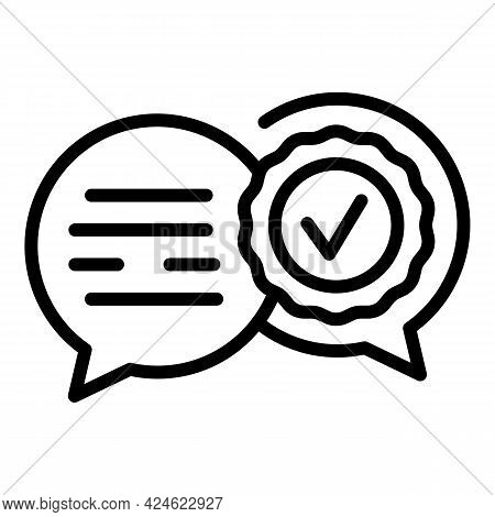 Regulated Products Chat Icon. Outline Regulated Products Chat Vector Icon For Web Design Isolated On