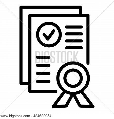 Regulated Products Diploma Icon. Outline Regulated Products Diploma Vector Icon For Web Design Isola