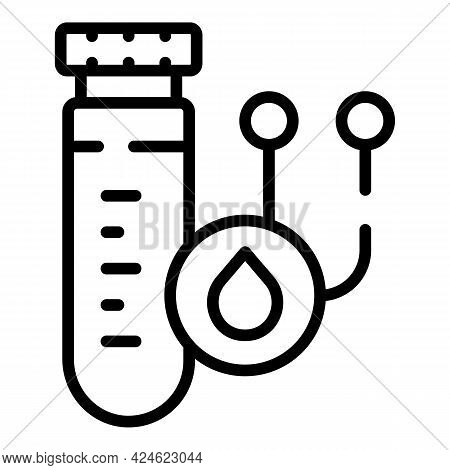 Regulated Products Quality Test Tube Icon. Outline Regulated Products Quality Test Tube Vector Icon