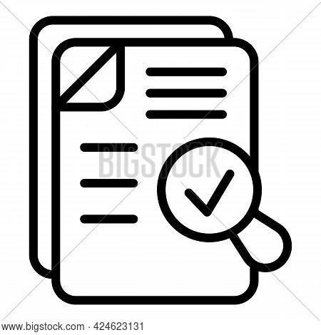 Regulated Products Search Icon. Outline Regulated Products Search Vector Icon For Web Design Isolate