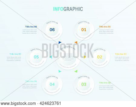 Vector Infographics Timeline Design Template With Circle Elements. Content, Schedule, Timeline, Diag