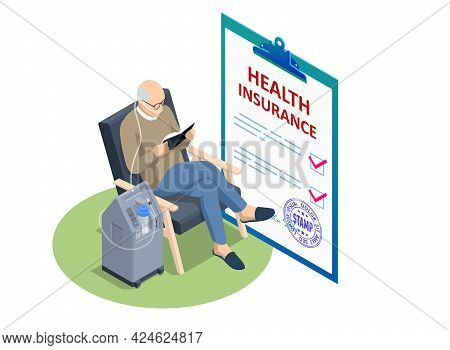 Isometric Insurance Policy, Medical Insurance, Senior Citizen Health Plan. Social Security Benefits