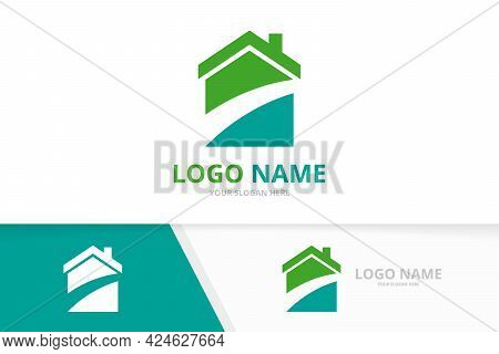 Real Estate Construction Logo. Architecture House Logotype Design Template.