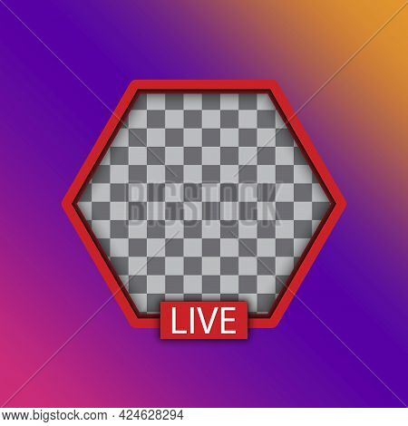 Live Video Streaming. Social Media. Hexagon Live Stream Logo. Social Network. Vector Illustration. S