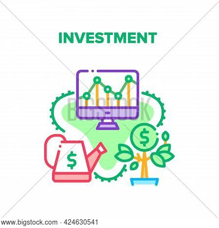 Investment Money Vector Icon Concept. Investment Money In Startup Or Financial Market, Management An