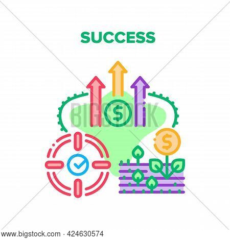 Success Finance Vector Icon Concept. Success Finance Earning And Growing Deposit Percentage, Wealth