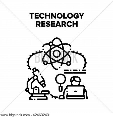 Technology Research Science Vector Icon Concept. Technology Research Science Microscope Laboratory P
