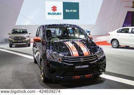 Bangkok - Dec 2, 2020  Car Show Suzuki Celerio At Auto Shows And Other Exhibitions (big Motor Sale)