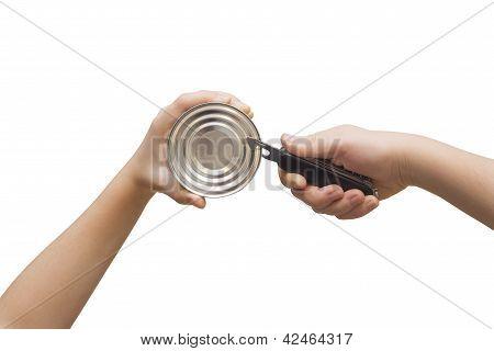 Opener and tin
