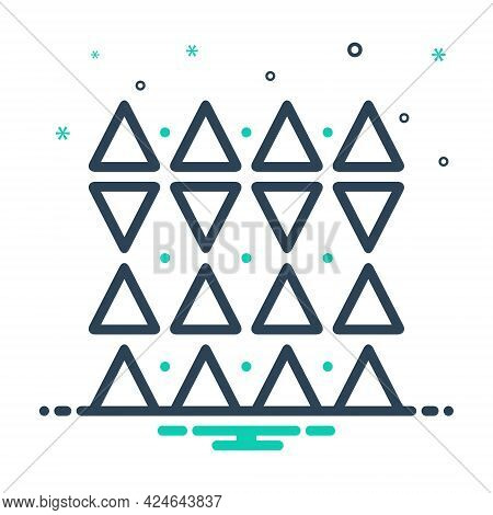 Mix Icon For Discrepancies Shape Triangle Pattern  Opposite