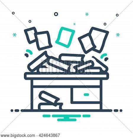 Mix Icon For Disorganize Haphazard Scrappy Disorganized Disorderly Straggling