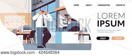 Businessman Suffering From Headache Inflammation Of Muscles Concept