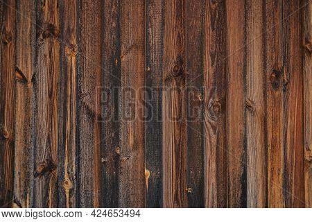 Timber Board. Wood Plank Background.wood Texture.wooden Brown Shabby Surface. Rustic Wooden Grunge T