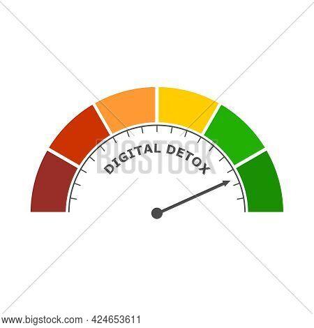Digital Detox Concept Illustration. Addiction Of Devices