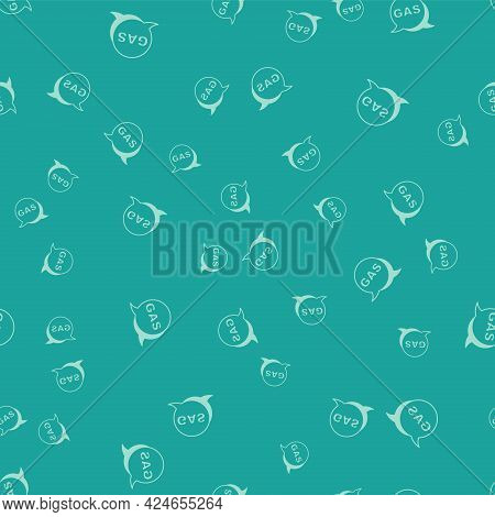 Green Location And Petrol Or Gas Station Icon Isolated Seamless Pattern On Green Background. Car Fue