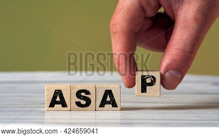 Asap As Soon As Possible Concept Text. Email Communication Sign Background