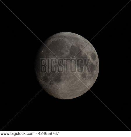 Hi-res big full moon, high detailed