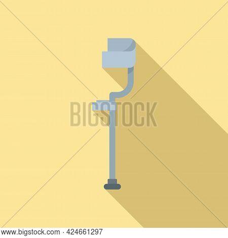 Crutches Icon. Flat Illustration Of Crutches Vector Icon For Web Design