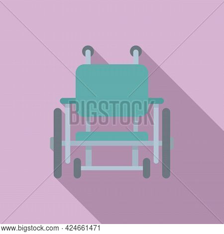 Wheelchair Icon. Flat Illustration Of Wheelchair Vector Icon For Web Design