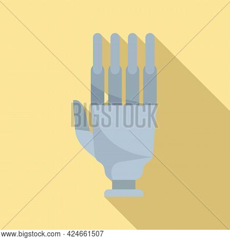 Artificial Hand Icon. Flat Illustration Of Artificial Hand Vector Icon For Web Design