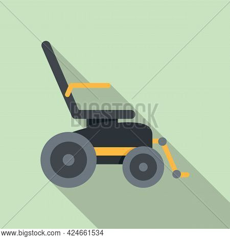 Electric Wheelchair Icon. Flat Illustration Of Electric Wheelchair Vector Icon For Web Design