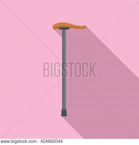Wood Walking Stick Icon. Flat Illustration Of Wood Walking Stick Vector Icon For Web Design