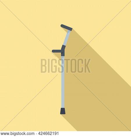 Metal Walking Stick Icon. Flat Illustration Of Metal Walking Stick Vector Icon For Web Design