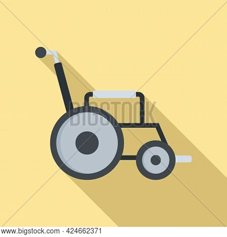 Modern Wheelchair Icon. Flat Illustration Of Modern Wheelchair Vector Icon For Web Design