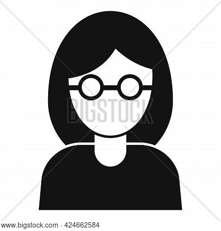 Woman Blind Icon. Simple Illustration Of Woman Blind Vector Icon For Web Design Isolated On White Ba
