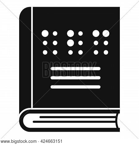 Book For Blind Icon. Simple Illustration Of Book For Blind Vector Icon For Web Design Isolated On Wh