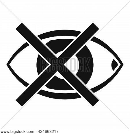 Blind Eye Icon. Simple Illustration Of Blind Eye Vector Icon For Web Design Isolated On White Backgr