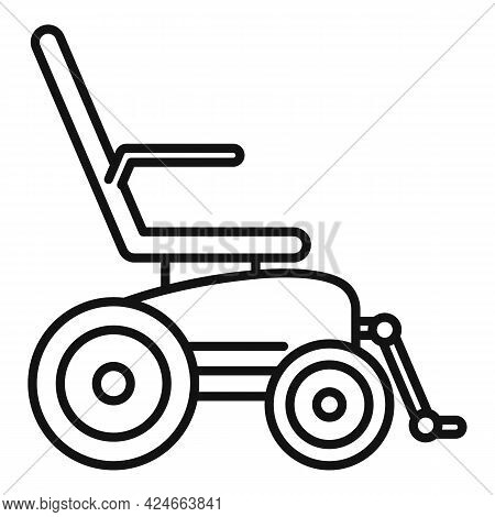 Electric Wheelchair Icon. Outline Electric Wheelchair Vector Icon For Web Design Isolated On White B