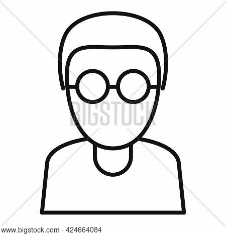 Blind Man Icon. Outline Blind Man Vector Icon For Web Design Isolated On White Background