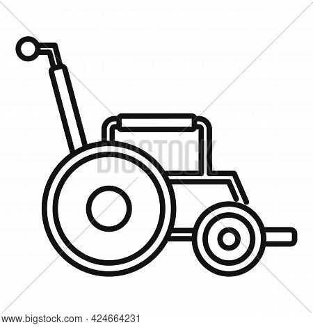 Modern Wheelchair Icon. Outline Modern Wheelchair Vector Icon For Web Design Isolated On White Backg