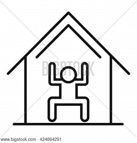 Home Training Icon. Outline Home Training Vector Icon For Web Design Isolated On White Background