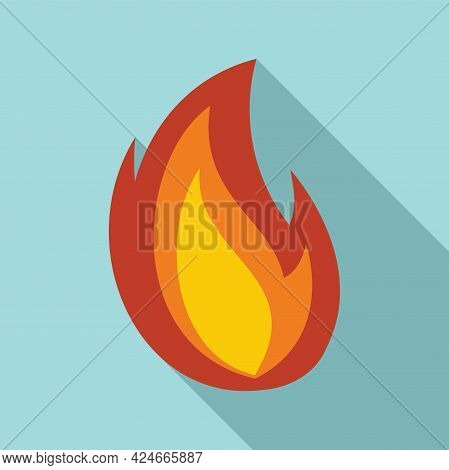 Fire Flame Heat Icon. Flat Illustration Of Fire Flame Heat Vector Icon For Web Design