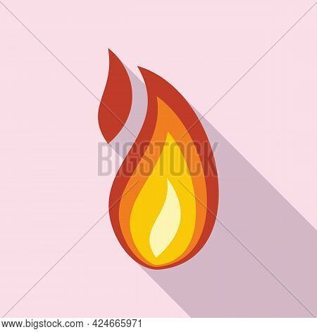 Fire Flame Speed Icon. Flat Illustration Of Fire Flame Speed Vector Icon For Web Design