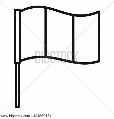 Hurling Irish Flag Icon. Outline Hurling Irish Flag Vector Icon For Web Design Isolated On White Bac