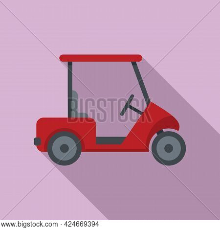 Golf Cart Buggy Icon. Flat Illustration Of Golf Cart Buggy Vector Icon For Web Design
