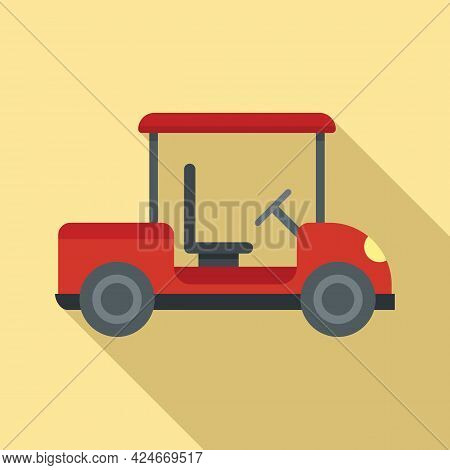 Golf Cart Hobby Icon. Flat Illustration Of Golf Cart Hobby Vector Icon For Web Design