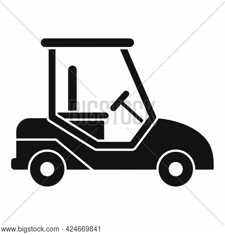 Golf Cart Auto Icon. Simple Illustration Of Golf Cart Auto Vector Icon For Web Design Isolated On Wh