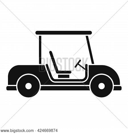 Golf Cart Club Icon. Simple Illustration Of Golf Cart Club Vector Icon For Web Design Isolated On Wh