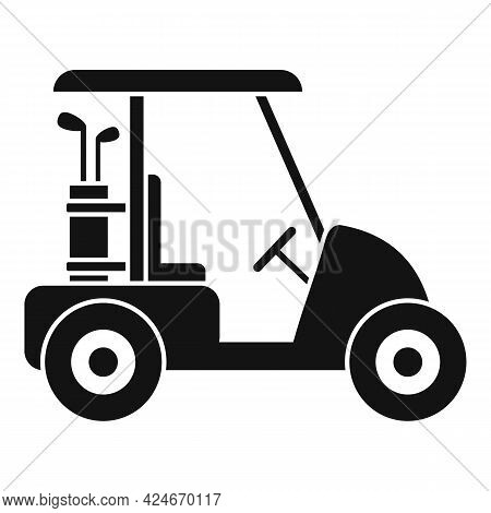 Golf Cart Course Icon. Simple Illustration Of Golf Cart Course Vector Icon For Web Design Isolated O