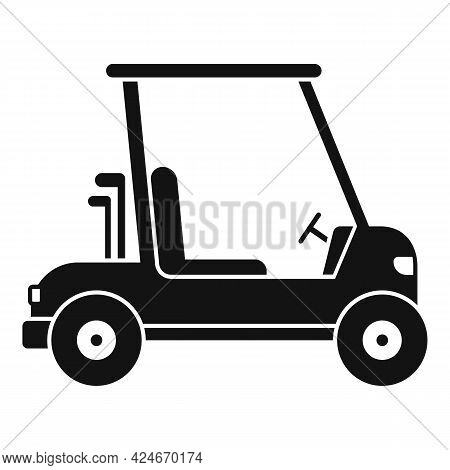 Golf Cart Drive Icon. Simple Illustration Of Golf Cart Drive Vector Icon For Web Design Isolated On