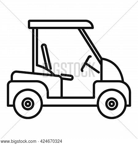 Golf Cart Auto Icon. Outline Golf Cart Auto Vector Icon For Web Design Isolated On White Background
