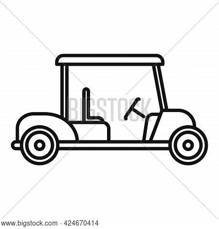 Golf Cart Hobby Icon. Outline Golf Cart Hobby Vector Icon For Web Design Isolated On White Backgroun