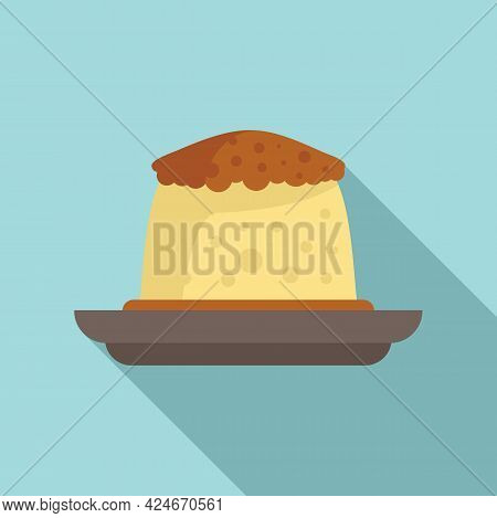 Greece Food Cake Icon. Flat Illustration Of Greece Food Cake Vector Icon For Web Design