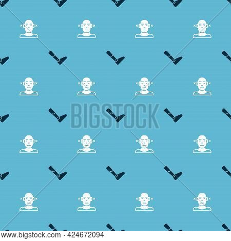 Set Prosthesis Leg And Deaf On Seamless Pattern. Vector