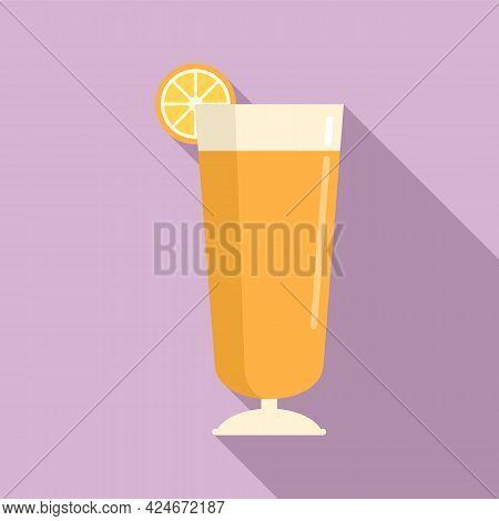 Summer Fresh Juice Icon. Flat Illustration Of Summer Fresh Juice Vector Icon For Web Design