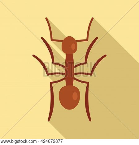 Small Ant Icon. Flat Illustration Of Small Ant Vector Icon For Web Design